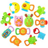 新生儿宝宝手摇铃牙胶动物礼盒套装婴幼儿安抚益智玩具0-1岁