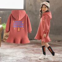 女童卫衣秋装2018新款韩版儿童春秋潮中长款洋气宽松秋季上衣长袖
