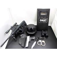儿童电动玩具枪套装cos小军人MP5男孩特警道具新年生日礼物