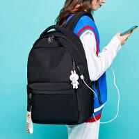 高中双肩背包女2019新款韩版潮大容量校园女大学生电脑包初中书包