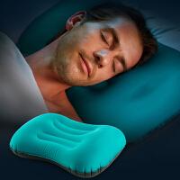 按压充气枕头便携坐车户外旅行午睡午休靠枕护颈枕