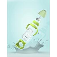 宝宝用品 婴儿玻璃奶瓶硅胶宽口径吸管