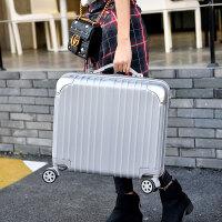 箱子迷你旅行箱男女拉杆便携式防水车载mini小号小型短途青年女孩 银色(款) 豪华镜面