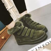 2016冬季新品女鞋韩版雪地靴厚底防滑魔术贴加绒马丁靴棉鞋潮1310144127140ML