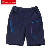 探路者童装男童梭织速干短裤夏季儿童图案四面弹力短裤