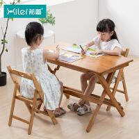 学习桌实木课桌椅套餐小学生写字桌家用儿童桌子简约折叠书桌