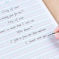 英语本小学生3-6年级初中生大本子单词默写本四线三格英文作文本四线格英语作业本