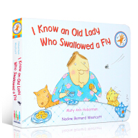 【全店300减100】英文原版绘本 I Know an Old Lady Who Swallowed a Fly 吴敏兰