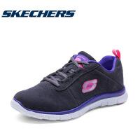 斯凯奇女款反绒皮舒适跑步鞋记忆棉鞋垫运动休闲鞋