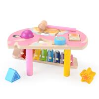 八音木琴男女宝宝早教积木1-2-3周岁 婴幼儿童手敲琴音乐玩具
