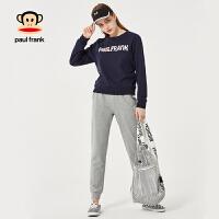 PaulFrank/大嘴猴秋季套装女两件套2018新款韩版时尚宽松秋装女