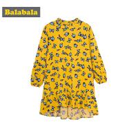 巴拉巴拉童�b女童�B衣裙小童����裙子秋冬新款�和�公主裙淑女