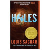 【现货】 英文原版 洞 Holes 纽伯瑞获奖作品 简装小开本版 10-13岁 假期读物 20周年纪念版