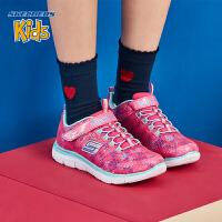 【*注意鞋码对应内长】Skechers斯凯奇女童鞋 时尚魔术贴网布舒适休闲运动鞋81679L