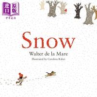 【中商原版】Carolina Rabei 雪白的季节 Snow 精品绘本 低幼亲子共读故事绘本 圣诞节 平装 英文原版