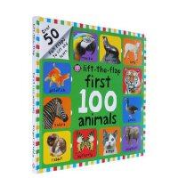 英文原版儿童绘本 First 100 Animals Lift-The-Flap Board Book 儿童动物词汇图