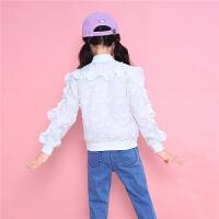 【一口价 139元】童装拉链立领夹克拉夏贝尔新款女童个性时髦外套韩版百搭