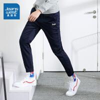 真维斯裤子男2019新款秋季休闲裤男宽松韩版潮流斜纹布束腿裤