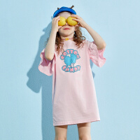 【夏新品2件4折:79】巴拉巴拉旗下女童t恤连衣裙儿童裙子2020夏装洋气新款粉色女