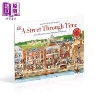 【中商原版】DK A Street Through Time 穿越时空的街道 儿童科普百科读物 12000年的街道旅程