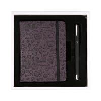 笔记本文具 礼品礼盒 创意套装 韩国 皮面 迷你 可爱 随身 小记事本子 定制 550卡通图案 紫色