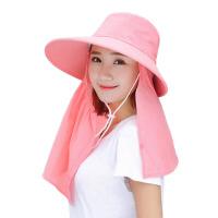夏季大檐户外遮阳帽夏天女骑车防晒帽子太阳帽遮脸凉帽
