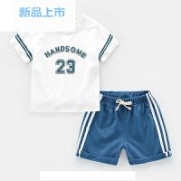 男童短袖运动服套装小孩夏装夏季童装儿童宝宝短裤女童1-3-5周岁4