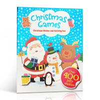 英文原版 Christmas Games 圣诞节游戏书 英文原版幼儿启蒙认知绘本读物