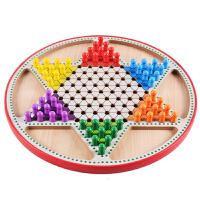 儿童早教益智多功能九宫格数独棋跳棋二合一棋亲子互动木质玩具