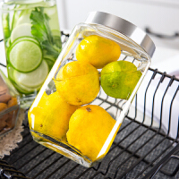 杂粮储物罐小玻璃瓶带盖泡菜坛子玻璃罐子密封食品罐密封罐奶粉罐