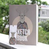 精装时尚B5加厚空白内页绘画本素描本涂鸦本图画本速写本创意16K