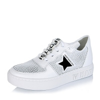 BASTO/百思图专柜同款PU网布/软面牛皮女单鞋YBZ01CM6