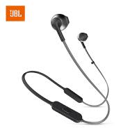 【当当自营】JBL TUNE205BT 曜石黑 无线蓝牙耳机 运动耳机 T205BT半入耳式音乐耳机 带麦手机可通话