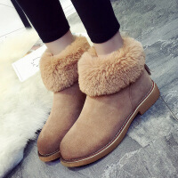冬季新品2016冬季新款韩版雪地靴平底马丁靴棉鞋短筒平跟学生短靴女靴子潮00030ML