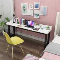 书桌简约小户型家用儿童学生双人电脑桌卧室长条一字板窄极简书桌
