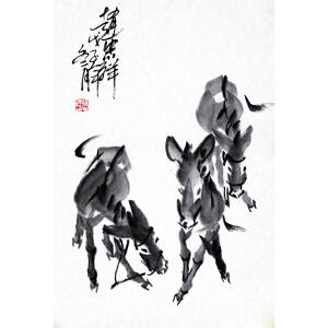 赵忠祥《群驴图》著名主持人 带合影