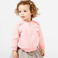 davebella戴维贝拉2018春季新款外套 女宝宝休闲长袖外套DBJ7336