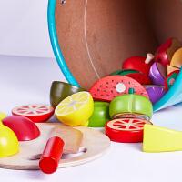 儿童仿真过家家切水果玩具蔬菜切切看宝宝厨房切菜切切乐