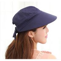 优雅实用夏季防晒帽户外休闲旅游遮阳 纯棉防紫外线鸭舌帽 帽百搭