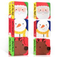 英文原版 Chunky Pack: Christmas 圣诞节绘本 3册合售节日庆典 启蒙1-3岁儿童纸板书撕不烂 P