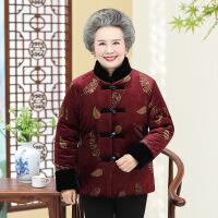 【春节特惠 一件五折】中老年棉衣 女士保暖加绒加厚冬季新款上衣外套女式妈妈奶奶装时尚羽毛老年棉服中老年女装