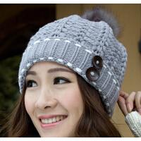 针织帽子秋冬季韩版护耳毛线帽 女韩国 冬天户外潮流保暖