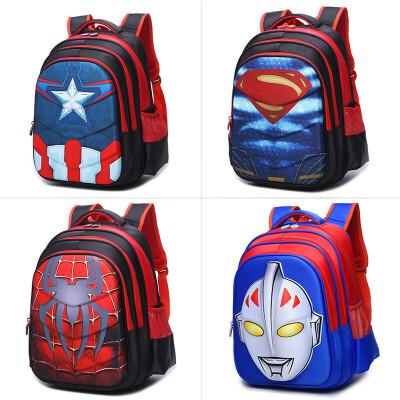 小学生书包男孩美国队长儿童幼儿园防水蜘蛛侠1-3-5年级超人背包