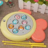 3-6岁儿童电动女孩男宝宝小猫磁性钓鱼小孩子早教玩具套装