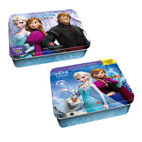 迪士尼卡通冰雪奇缘系列阶梯训练铁盒拼图D 共2盒 [3-6岁]