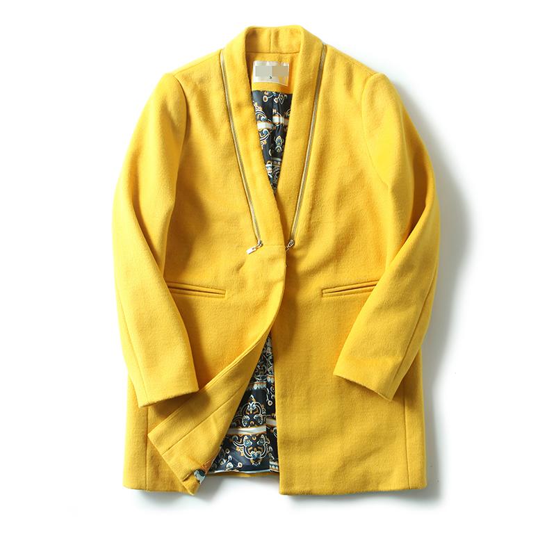 女装冬装新 东大门纯色一粒扣风衣毛呢外套女长袖 发货周期:一般在付款后2-90天左右发货,具体发货时间请以与客服协商的时间为准