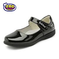 16.5cm~23cm巴布豆 女童皮鞋春秋新款中大童学生公主鞋黑色女童单鞋