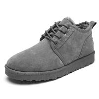 冬季男士雪地靴情侣低帮加绒保暖韩版马丁短靴子二棉鞋面包男鞋子