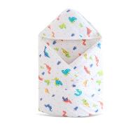 2019 秋冬季款婴儿童新生儿卡通动物加厚纱布夹棉抱被包巾抱毯 90cm