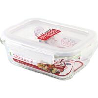 乐扣乐扣玻璃保鲜盒饭盒便当盒宝宝辅食碗上班族微波炉冰箱收纳
